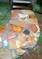 Picture stone walkway
