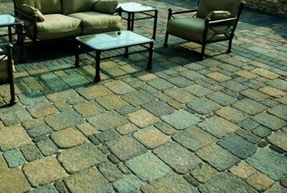 concrete paver patio image - Brick Stone Patio Designs