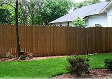 Image - Eight foot Spartanburg wood privacy fence