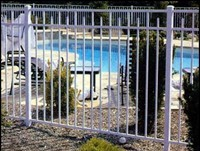 Image of white aluminum fencing Spartanburg