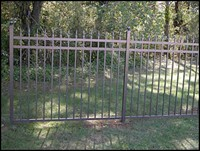 Picture of bronze aluminum fencing Greenville