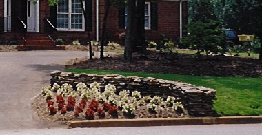 picture of decorative retaining wall