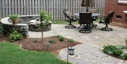 Picture of greenville brick paver firepit and patio