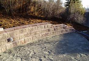 picture of block retaining wall